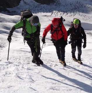 Skigidsen in het Mont Blanc gebied