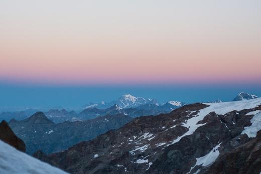Zelfs de Mont Blanc kunnen we zien!