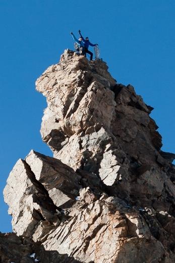 Het laatste stukje klimmen is erg luchtig!
