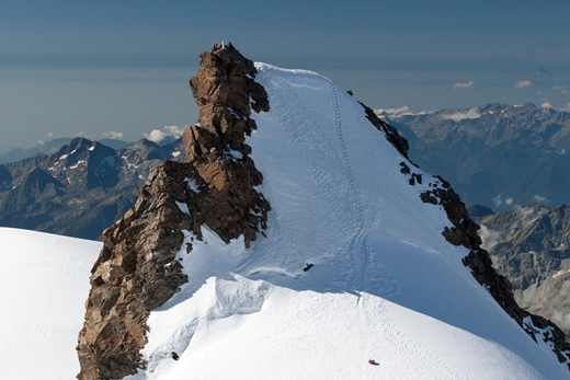 De Corno Nero misschien wel het mooiste topje van de Monte Rosa