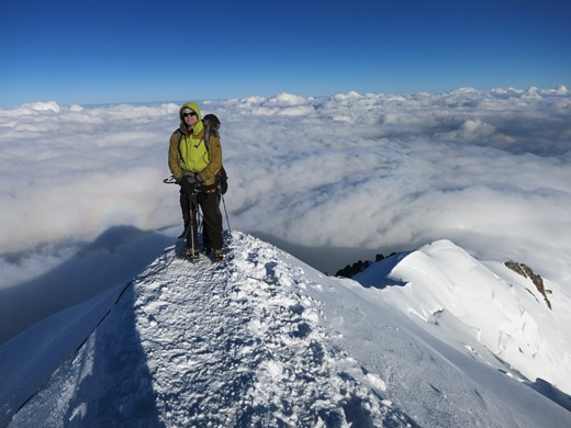 Weer 2 man veilig op de top van de Mont Blanc!