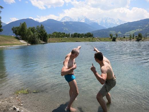 Even relaxen met een prachtig overzicht van onze route op de Mont Blanc!