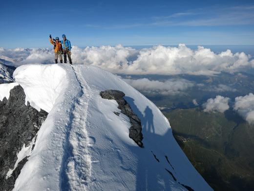 Op de top van de Eiger!