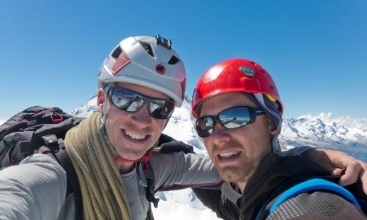 Op de top van de Stecknadelhorn!