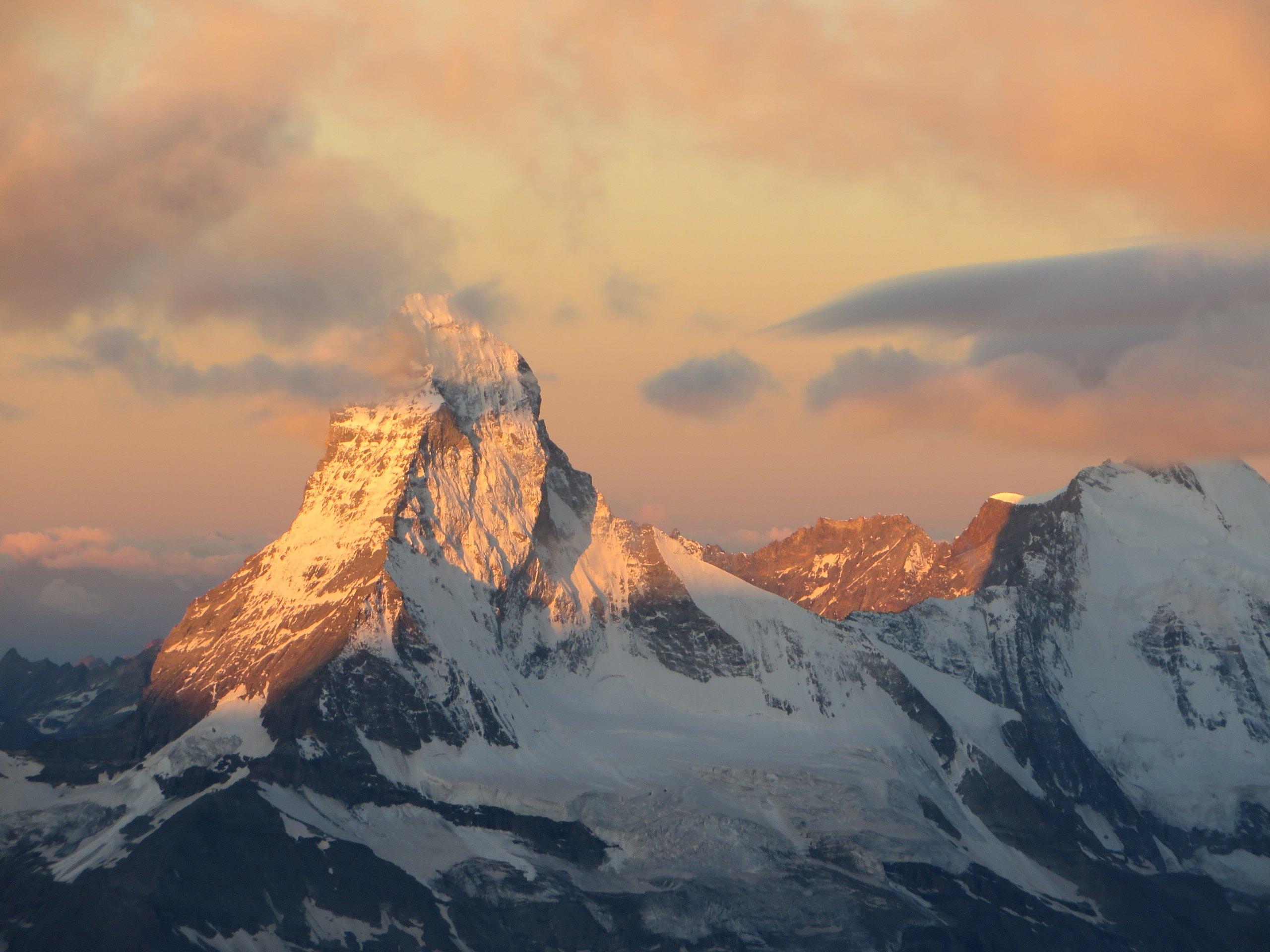 Matterhorn in het ochtendlicht